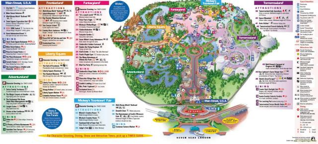 Mapa Magic Kingdom